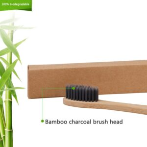 Brosse à dents Bambou Poils au Charbon actif souple
