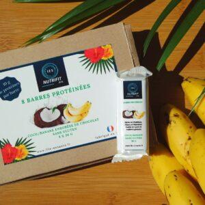 Boîte de 8 barres protéinées Coco-Banane sans gluten