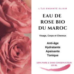 Hydrolat de Rose Bio du Maroc, 125ml