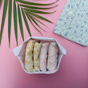 Pochette imperméable coton bio