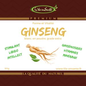 Ginseng blanc en poudre, 50g