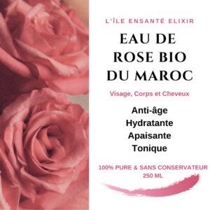 Hydrolat de Rose Bio du Maroc, 250 ml