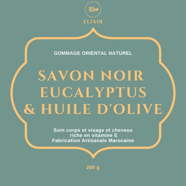 savon noir eucalyptus soins naturels gommage acné
