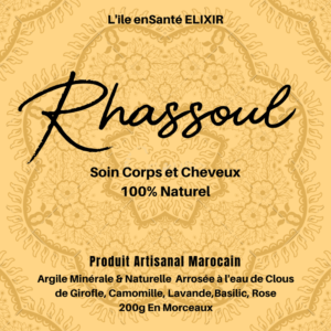 Rhassoul Marocain enrichi 100% naturel