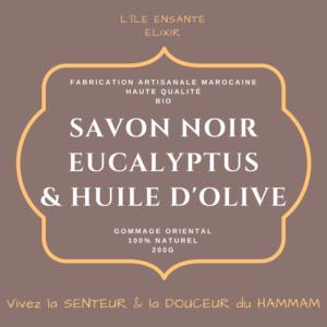 Savon Noir Bio à l'Eucalyptus, 200g