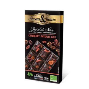 Tablette Chocolat noir incrustée aux Superfood