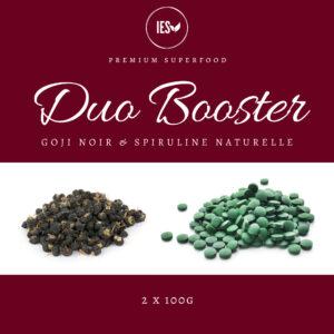 DUO BOOSTER Spiruline/Goji Noir