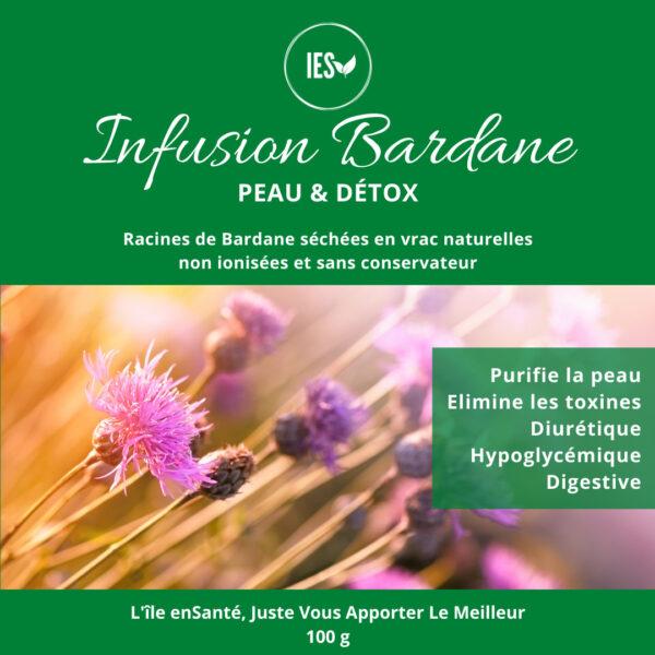 infusion tisane detox peau saine bardane