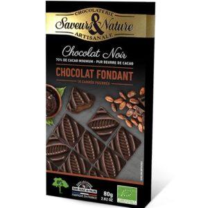 Carrés chocolat noir 70% fourrés suprême fondant