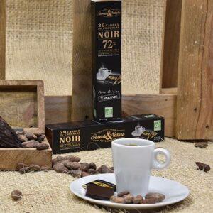 Napolitains de chocolat noir 70% de cacao pur