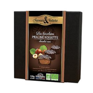 Coffret de 9 Bouchées praliné-noisette au chocolat