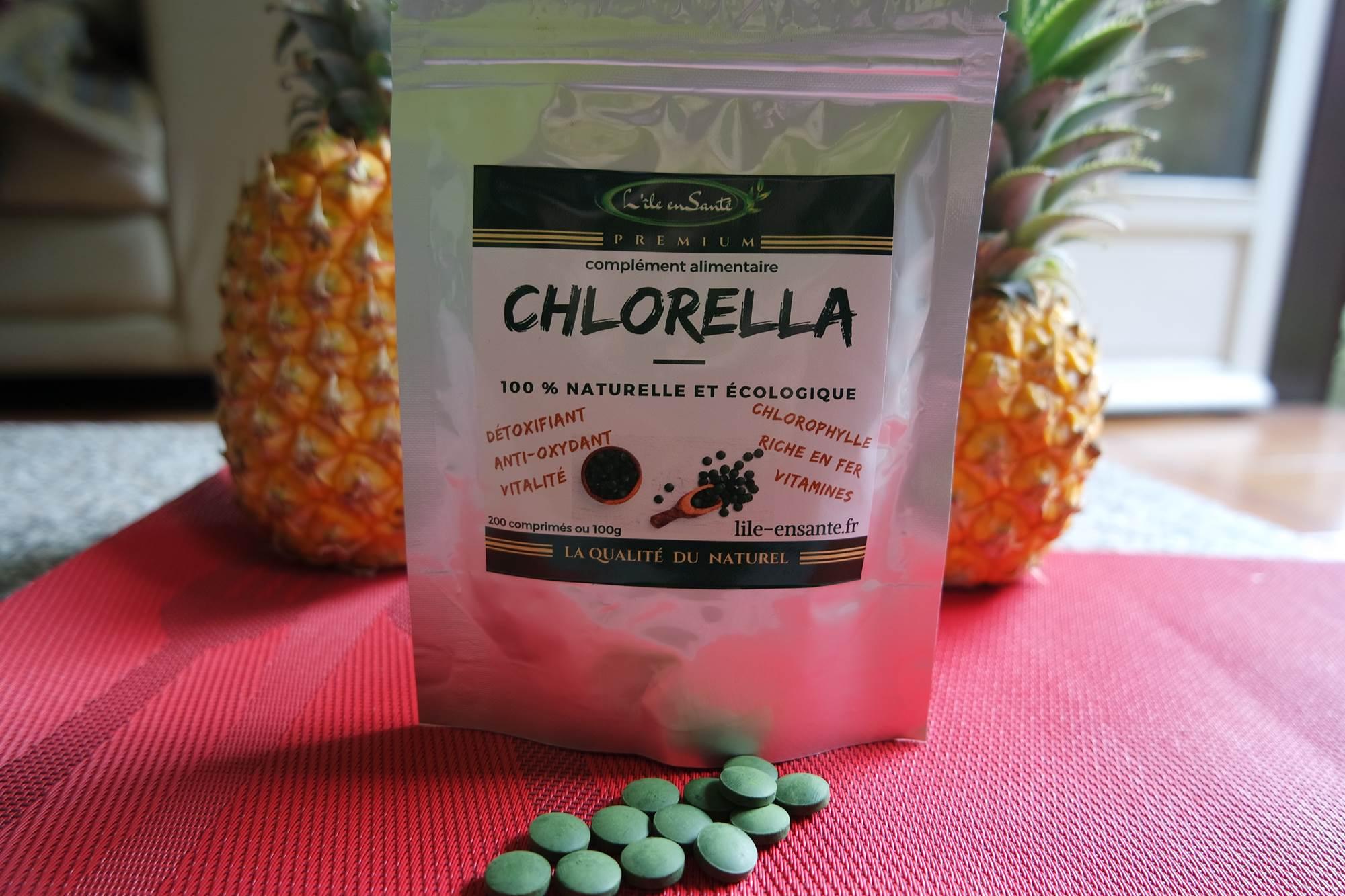 sachet de chlorella