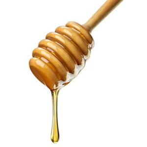 Cuillère à miel en bois naturel