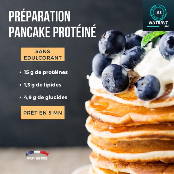 pancakes proteines collation healthy ile de la reunion